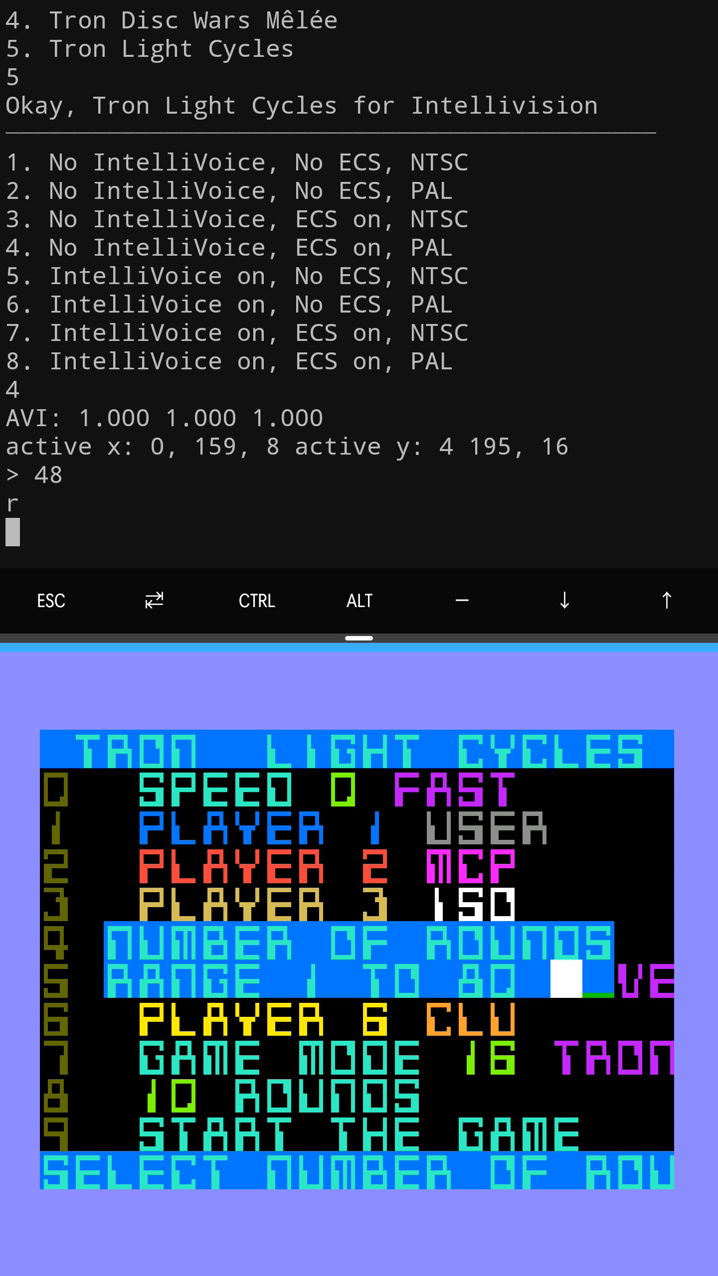 Intellivision Development Environment on Android Phone